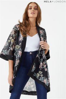 Mela London Floral Print Long Kimono