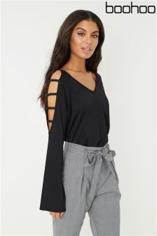Boohoo Ladder Sleeve T-Shirt