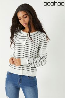 Boohoo Striped Cardigan