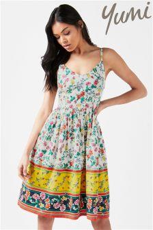 Yumi Garden Border Midi Dress
