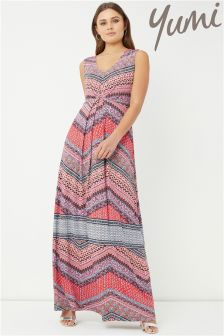 Yumi Aztec Stripe Maxi Dress