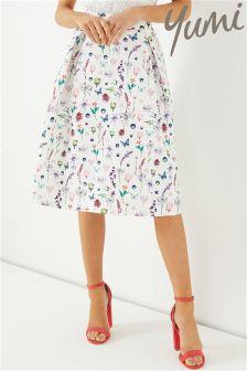 Yumi French Botanical Jacquard Skirt