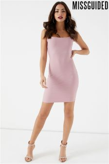 Missguided Bandage Wide Strap Bodycon Dress