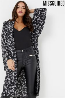 Missguided Floral Long Sleeve Kimono