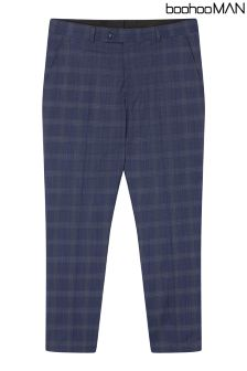 Boohoo Man Check Skinny Fit Trousers