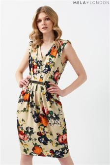 Mela London Floral Belted Dress