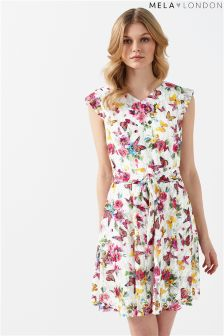 Mela London Printed Lace Dress