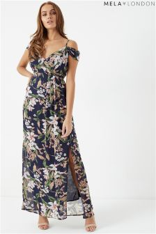 Mela London Floral Printed Maxi Dress