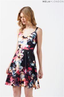 Mela London Floral Scuba Dress