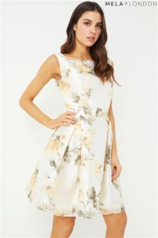 Mela London Leaf Print Prom Dress