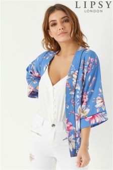 Lipsy Printed Short Kimono