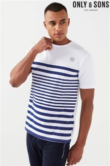 Only & Sons Striped Fitted T-Shirt