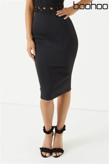 Boohoo Scuba Pencil Skirt