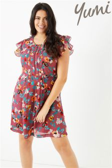 Yumi Ladder Front Floral Day Dress
