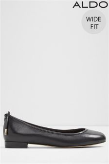 Aldo Wide Fit Bow Back Ballerina Leather Pumps