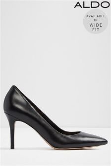 Aldo Mid Heel Wide Fit Pointed Courts