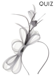 Quiz Bow Feather Headband