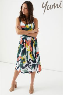 Yumi Abstract Tropical Dress