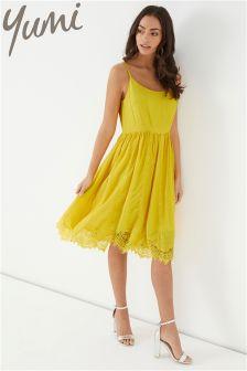 Yumi Lace Trim Dress