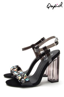 Qupid Embellished Heel Sandals