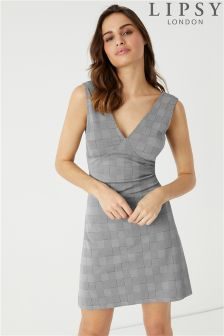 Lipsy Check Pinny Dress