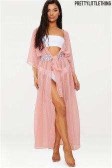 PrettyLittleThing Embellished Kimono