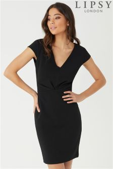 Lipsy Pleat Front Bodycon Dress