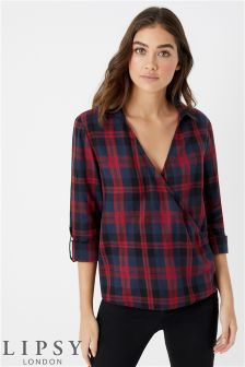 Lipsy Wrap Check Shirt