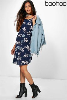 Boohoo Maternity Soph Floral Print Short Sleeve Shift Dress