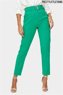 PrettyLittleThing Belted Tailored Trousers