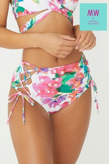 MW By Matthew Williamson Floral High Waist Bikini Briefs