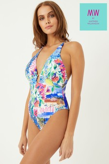 MW By Matthew Williamson Plunge Cutout Swimsuit