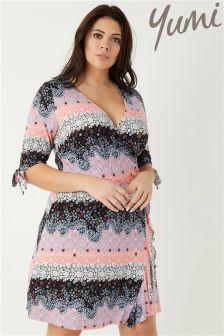 Yumi Curve Printed Jersey Dress