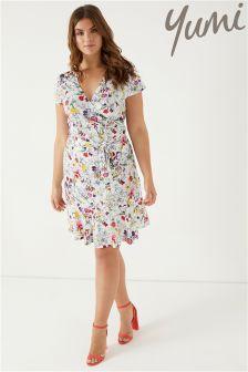 Yumi Curve Frill Hem Jersey Dress