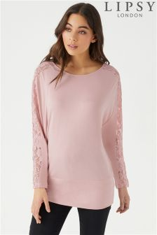 Lipsy Lace Wide Band Top