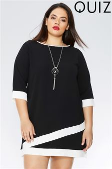Quiz Curve Necklace Tunic Dress