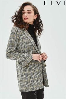 Elvi Check Double Breasted Blazer