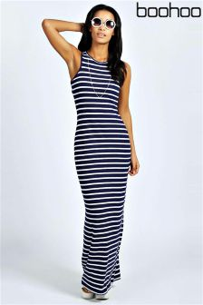 Boohoo Petite Stripe Maxi Dress