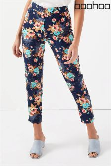 Boohoo Petite Floral Print Trousers