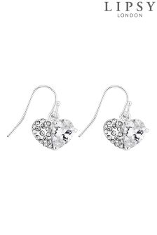 Lipsy Crystal Pave Heart Earring