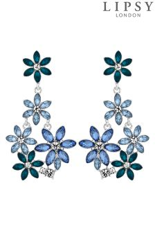 Lipsy Floral Crystal Drop Earrings