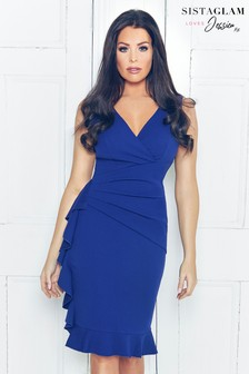 Jessica Wright Ruched Wrap Dress