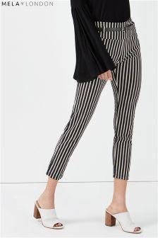 Mela London Stripe Belted Trousers