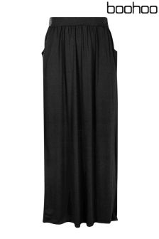 Boohoo Plus Pocket Jersey Maxi Skirt