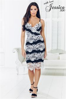 Sistaglam Loves Jessica Contrast Lace Dress