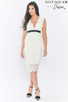 Jessica Wright Lace Bodycon Midi Dress