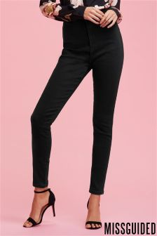 Missguided High Waisted Skinny Short Length Jeans