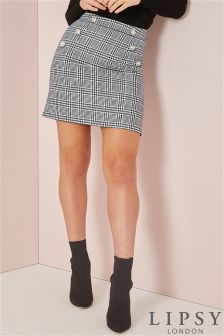 Lipsy Tailored Dogstooth Mini Skirt