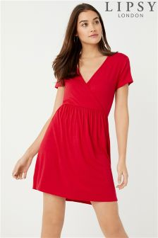 Lipsy Wrap Top Skater Dress