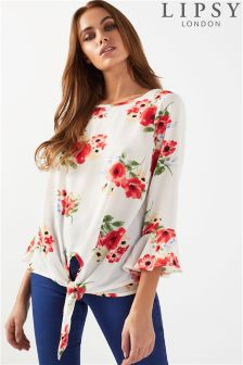 Lipsy Floral Tie Front Blouse